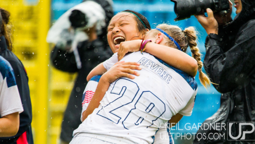 Angela celebrates the first world championship title for the U20 girls since 2006 at Fort Devens, MA